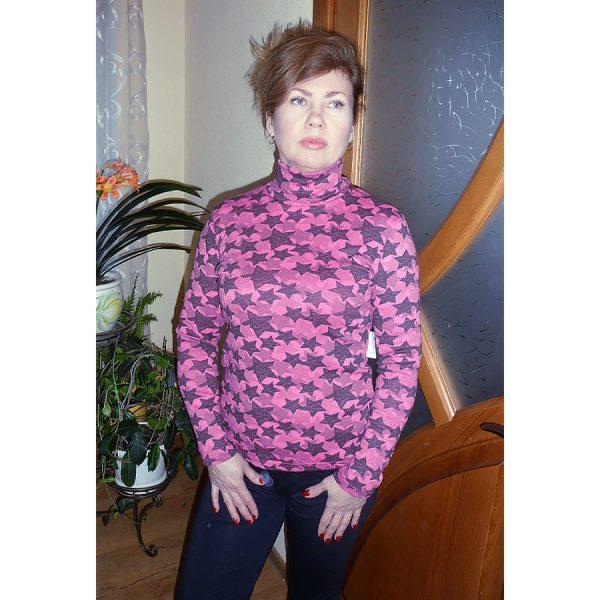 Водолазка женская стрейч, с начесом, Украина, р104, цвета в ассортименте, 20038793