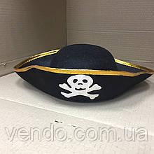 Шляпа треуголка Пирата с черепом