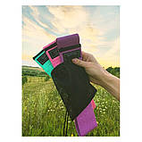 Фітнес гумки набір 3 шт тканинні для фітнесу в мішечку Стрічки опору Еспандери для ніг і сідниць, фото 7