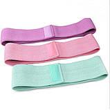 Фітнес гумки набір 3 шт тканинні для фітнесу в мішечку Стрічки опору Еспандери для ніг і сідниць, фото 2