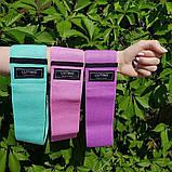 Фітнес гумки набір 3 шт тканинні для фітнесу в мішечку Стрічки опору Еспандери для ніг і сідниць, фото 6