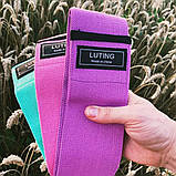 Фітнес гумки набір 3 шт тканинні для фітнесу в мішечку Стрічки опору Еспандери для ніг і сідниць, фото 3