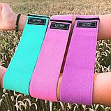 Фітнес гумки набір 3 шт тканинні для фітнесу в мішечку Стрічки опору Еспандери для ніг і сідниць, фото 9