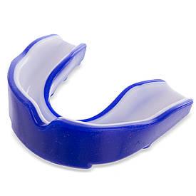 Капа боксерська BAD BOY одночелюстная двокомпонентна у футлярі синя BO-6006