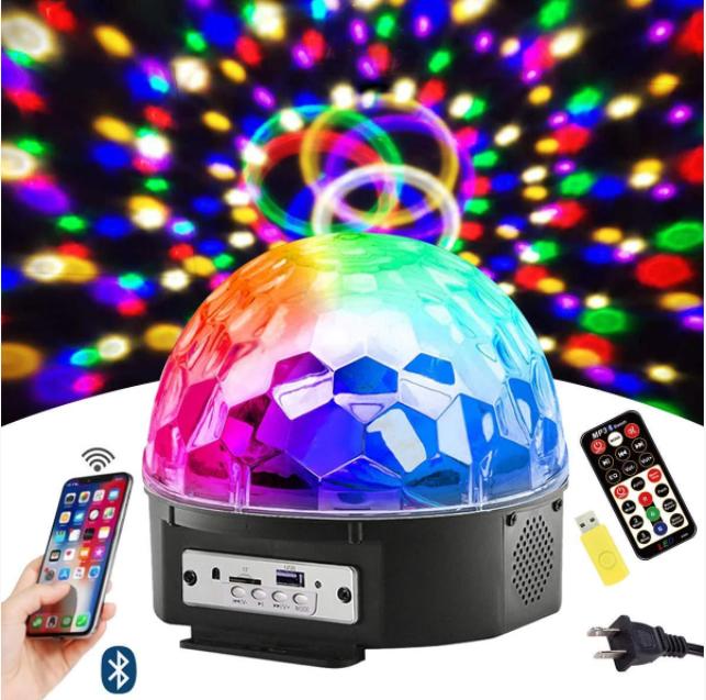 Светодиодный музыкальный диско-шар Musik Ball M6 + BT для помещения с подключением к телефону
