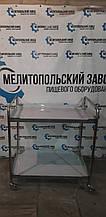 Тележка сервировочная 800х600х950 2 ур из 201 нержавеющей стали