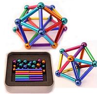 Магнитный конструктор неокуб Neocube - 64 детали цветной | Неокуб