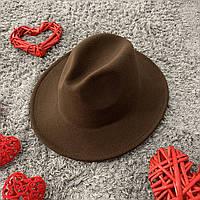 Шляпа Федора унисекс с устойчивыми полями Original коричневая