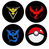 Значок Чёрный Покемон го/Pokemon Go Instinct/Mystic/Valor
