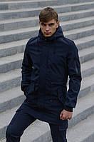 Куртка мужская синяя Softshell V2.0 демисезонная Intruder + Ключница в подарок осенняя весенняя на флисе
