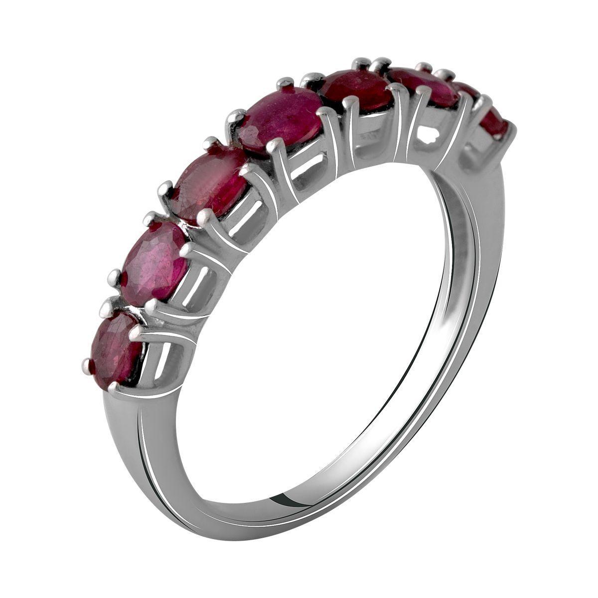 Серебряное кольцо pSilverAlex с натуральным рубином 1.6ct (2060017) 18.5 размер