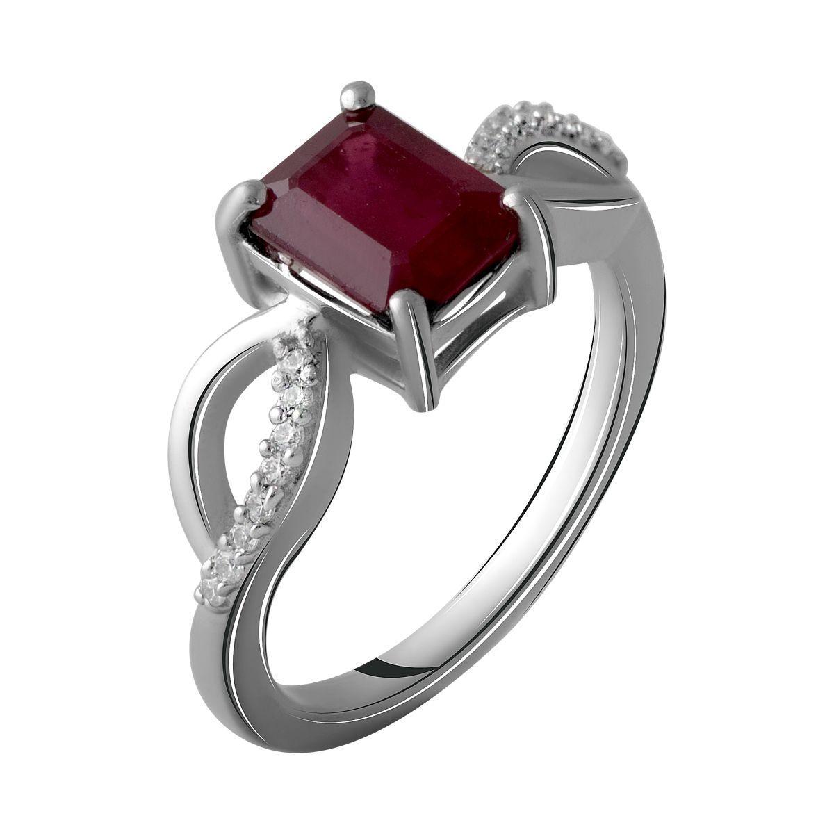 Серебряное кольцо pSilverAlex с натуральным рубином 2.299ct (2060031) 17.5 размер