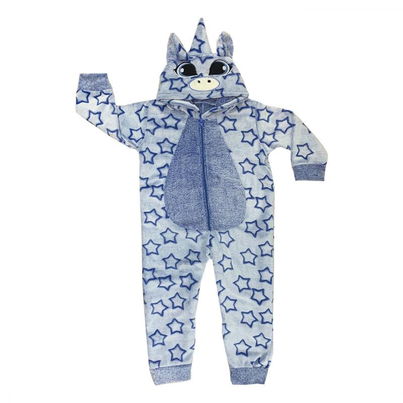 Кигуруми детская пижама Единорог для мальчика велсофт