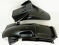 JS150-3 R6 Пластик, крыло заднее + передняя панель заднего крыла (подкрылок) - CF0-000501-0 / CF0-000502-0
