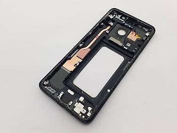 Рамка дисплея Samsung S9+ SM-G965F черная Сервисный оригинал с разборки