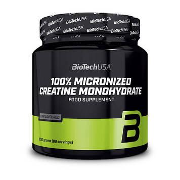 Креатин моногидрат BioTech Creatine Monohydrate micronized 100% 300 г без вкуса
