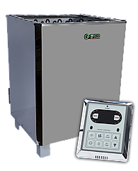 Електрокам'янка для сауни і лазні EcoFlame SAM D-12 12 кВт + пульт CON6
