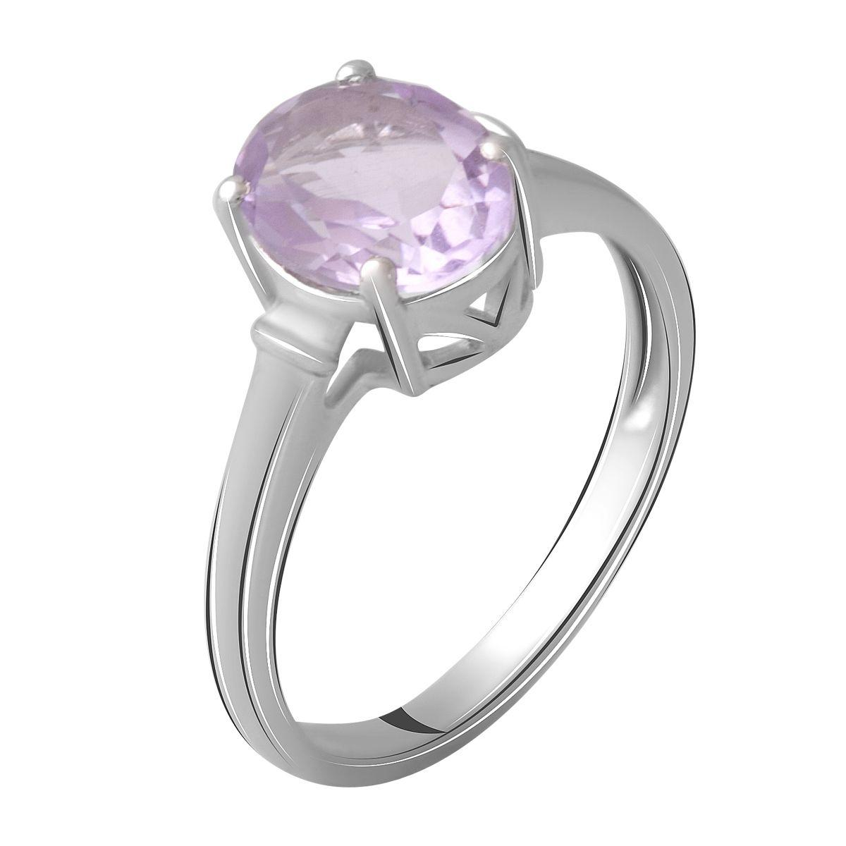 Серебряное кольцо pSilverAlex с натуральным аметистом 1.75ct (2060574) 17.5 размер