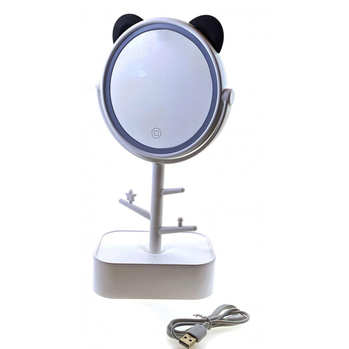Зеркало настольное с  LED подсветкой