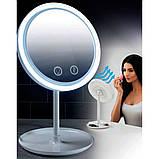 Зеркало настольное с  LED подсветкой и вентилятором, фото 3