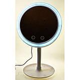 Зеркало настольное с  LED подсветкой и вентилятором, фото 5