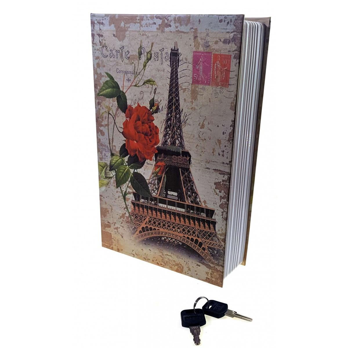 Книга сейф с замком Париж