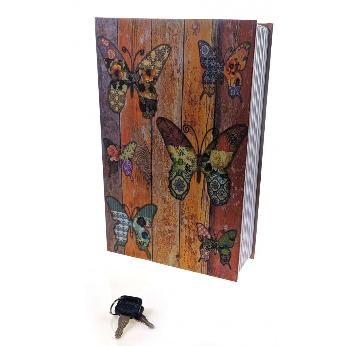 Шкатулка сейф в виде книги Бабочки