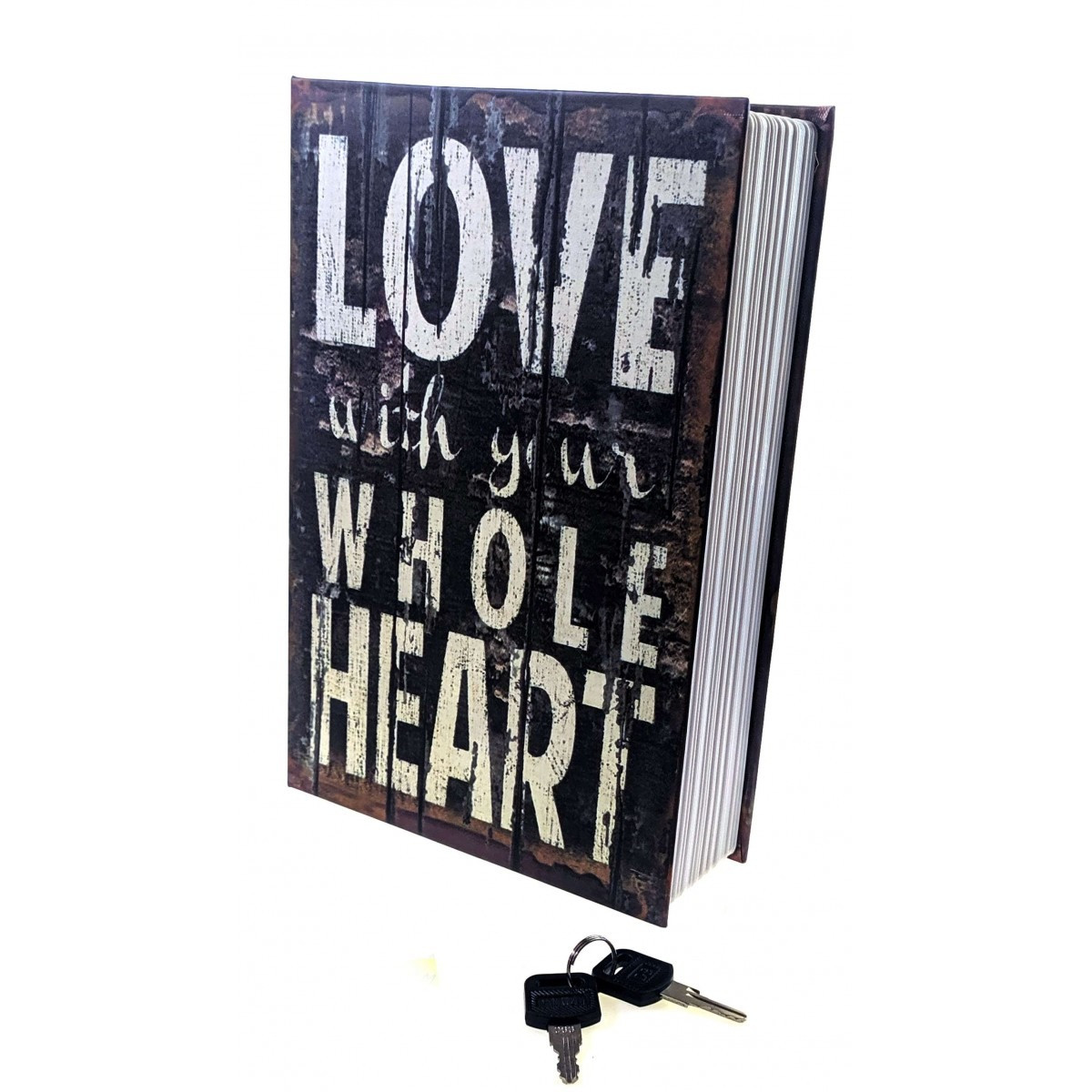 Книга сейф с ключом Love