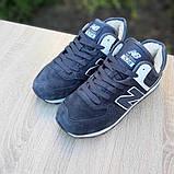 🔥 Кроссовки ботинки женские зимние New Balance 574 серые замшевые замша теплые на меху меховые, фото 6