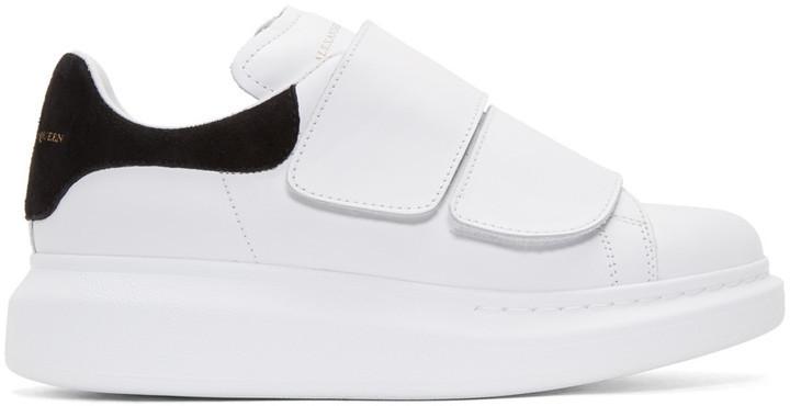 """Кроссовки Alexander McQueen Velcro White Black """"Белые"""""""