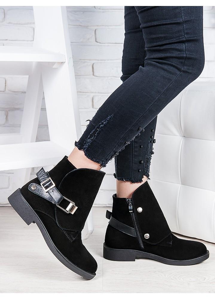 Женские зимние ботинки замшевые Веста 6837-28з