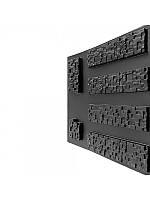 """Пластиковая форма для изготовления декоративного (искусственного) камня """"Пиксель"""""""