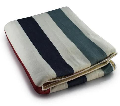 Простынь электрическая Еlectric blanket 150х120 см / Электропростынь с сумкой разноцветные полоски, фото 2