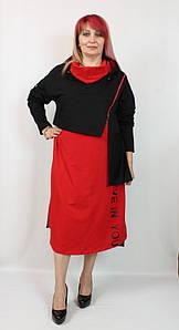 Турецкое женское платье с капюшоном больших размеров 52-64