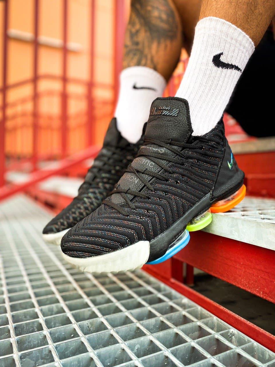 """Кросівки чоловічі Nike Lebron 16 EP LBJ """"Black Metallic Silver"""""""