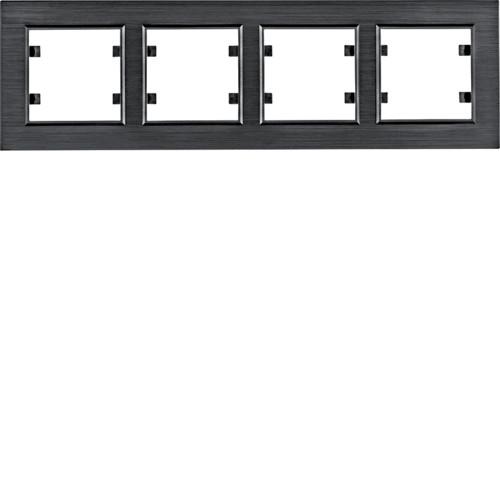 Рамка 4Х горизонтальна Lumina-Passion чорний алюміній