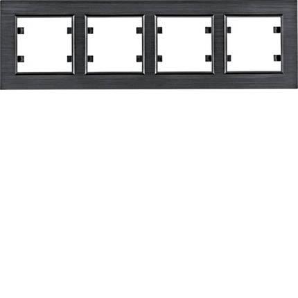 Рамка 4Х горизонтальна Lumina-Passion чорний алюміній, фото 2