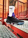 Кросівки чоловічі Nike LeBron 16 White Graffiti Black, фото 7