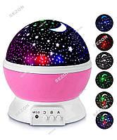Ночник проектор светильник Космос на батарейках, Мультик цвет