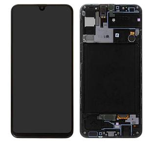Модуль для Samsung Galaxy A30s,Samsung A307, черный, дисплей + сенсор