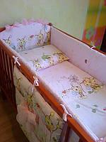 Детская постель в кроватку ТМ «ASIK» 7 элементов (без балдахина)