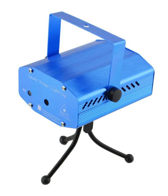 Лазерный проектор mini LASER HJ08 4in1 для создания праздничной атмосферы Синий