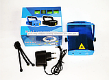 Лазерный проектор mini LASER HJ08 4in1 для создания праздничной атмосферы Синий, фото 4