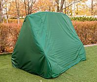 Зимний зеленый чехол на садовую качель 2200