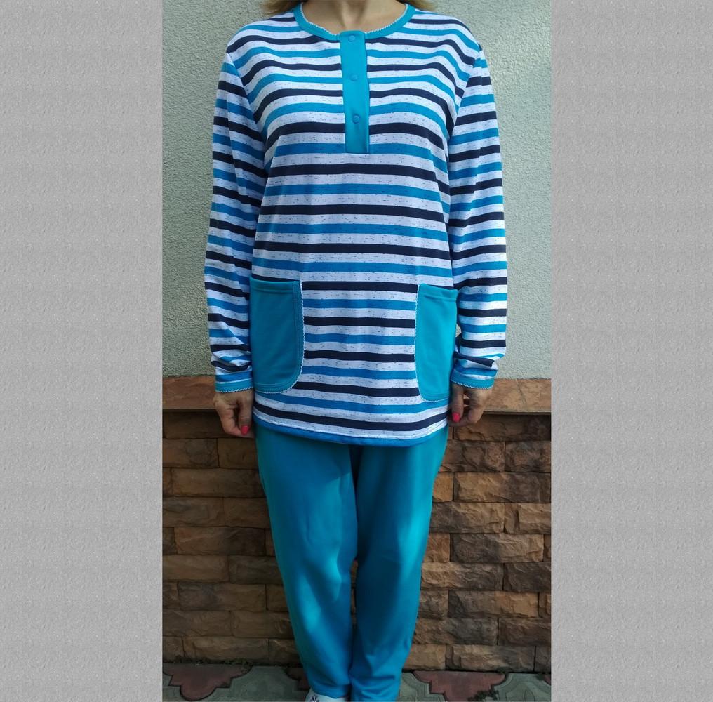 Пижама женская теплая с пуговицами футер Украина р108, 20036867