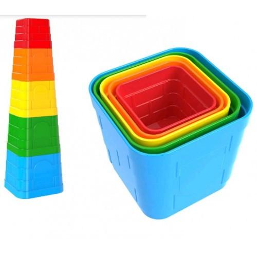 Пирамидка с квадратными элемнты арт.5385 7 7 х 7 7 х 7 см ТехноК