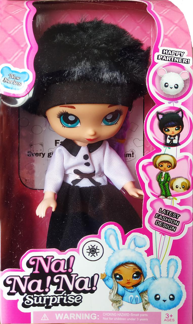 """Кукла """"Na Na Na"""" c роскошными волосами и меховой шапочкой 18см (вид 4)"""