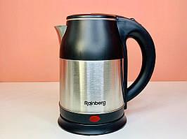Электрочайник Rainberg Rb-806 Чёрный Электрический Чайник Металл-Пластик