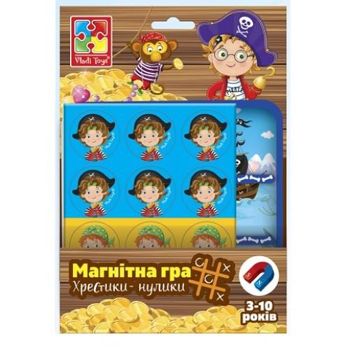 Магнитная игра 3703-06 Пирати.Хрестикы-нолики (Vladi Toys)