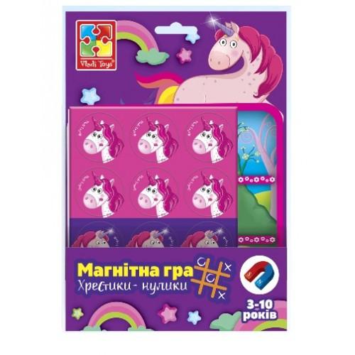 Магнітна гра 3703-08 Єдинороги.Хрестики-нолики (Vladi Toys)